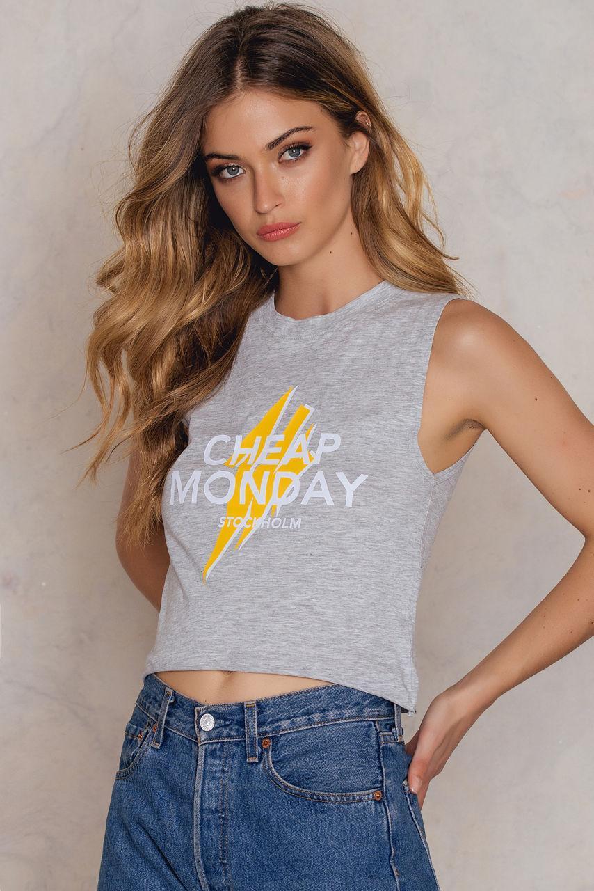 Cheap Monday Shield Tank - Grey