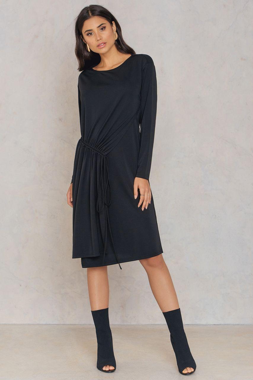 54ad4d8a034 Filippa K Drawstring Wrap Jersey Dress - Black | ModeSens
