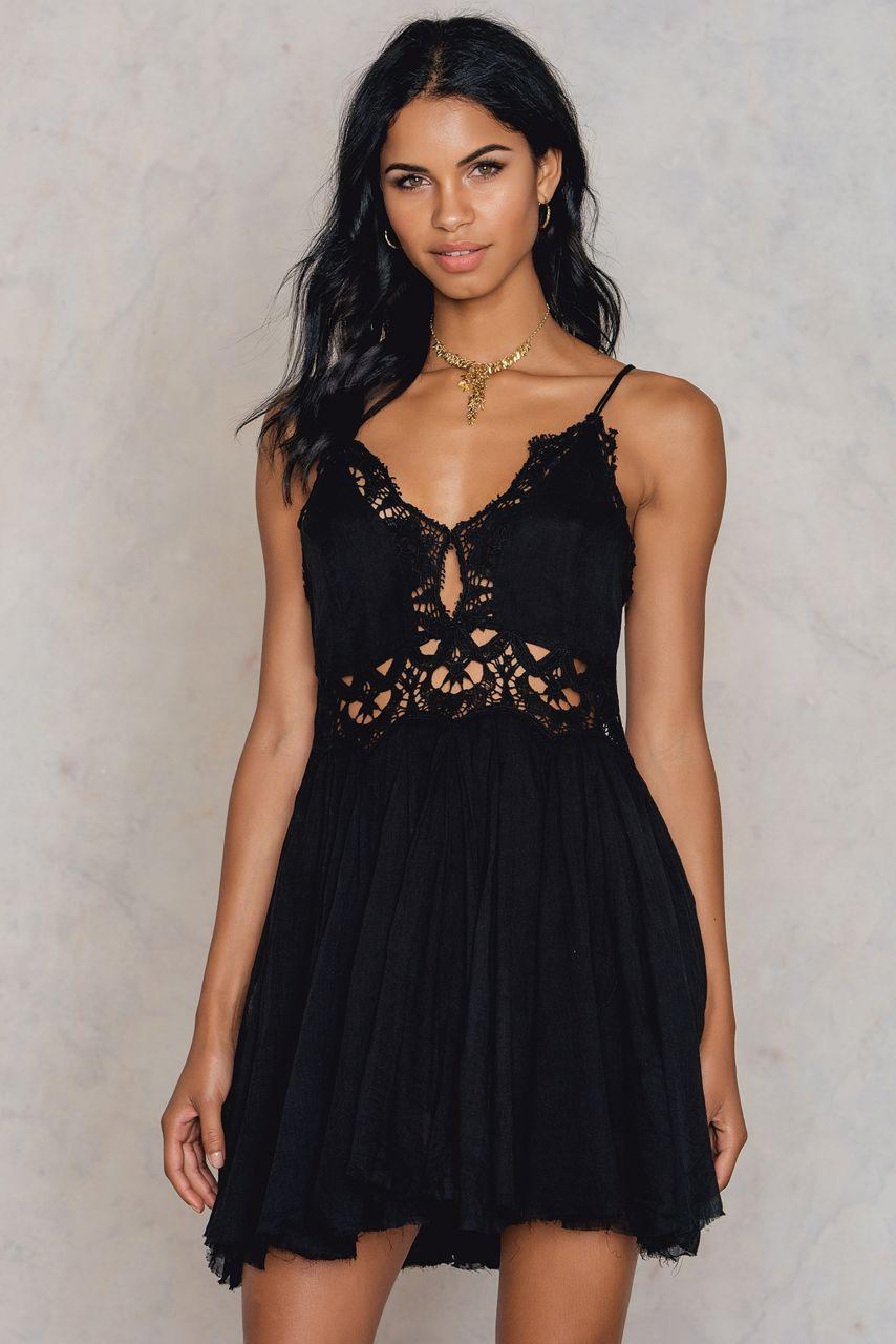 ae5745d55d9d Free People Ilektra Mini Dress - Black | ModeSens