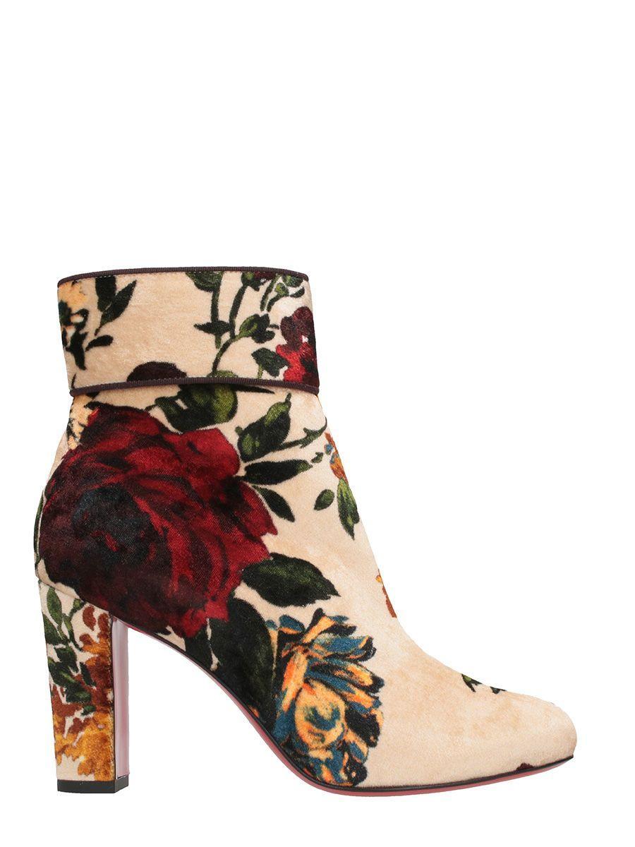 timeless design 0cd49 9d795 Moulamax 85 Velvet Ankle Boots in Powder