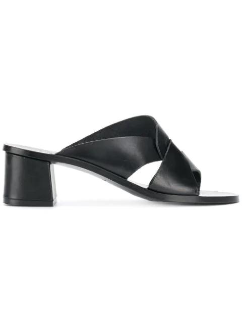 Atp Atelier Crossover Strap Mules - Black