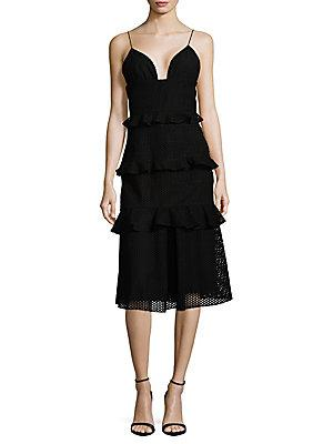 Cushnie Et Ochs Cotton Midi Dress In Black