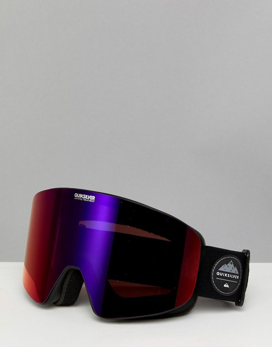 2814ef65667c Quiksilver Black Qs R Ski Goggles With Reflective Lens - Black In Gray