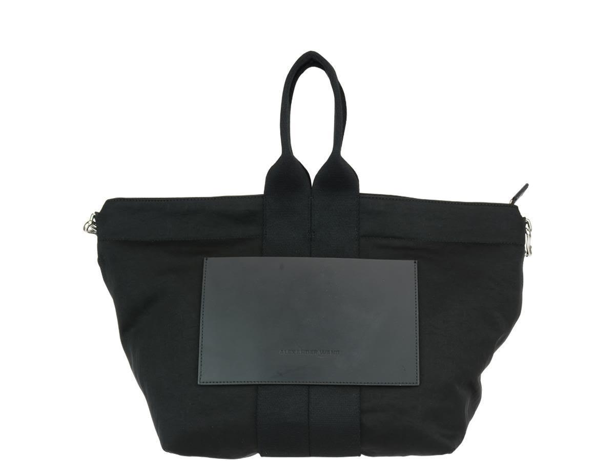 Alexander Wang Small Tote Logo Bag In Black