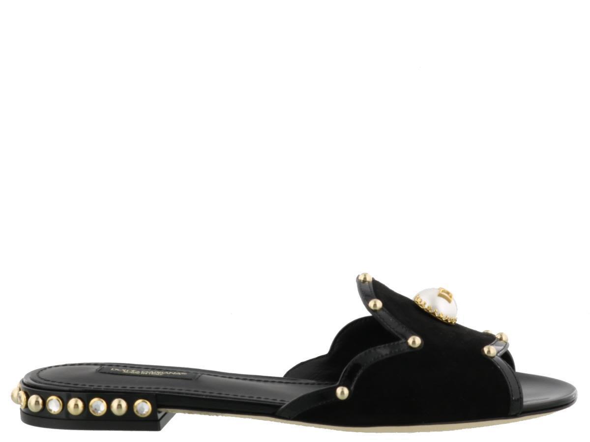 Dolce & Gabbana Slipper In Black