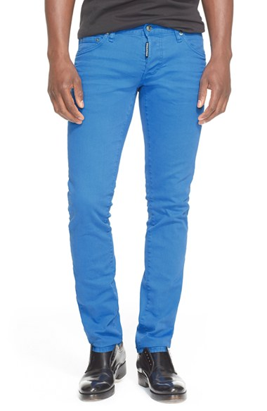 Dsquared2 Slim Fit Jeans (bright Blue) In 473 Bright Blue
