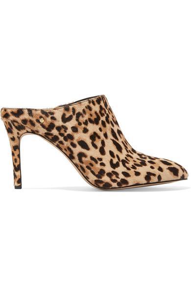 5f1163a239a1 Sam Edelman Oran Leopard-Print Calf Hair Mule Pump In Leopard Print ...
