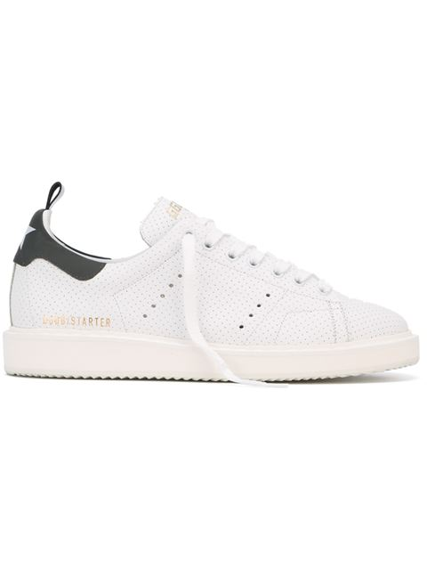 Golden Goose 'starter' Perforated Sneakers In Whitespot