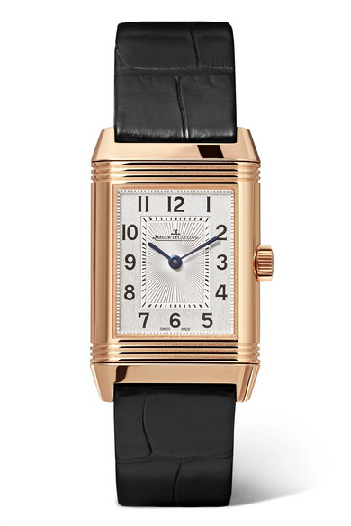 Jaeger-lecoultre Reverso Classic Duetto Small Rose Gold, Diamond And Alligator Watch