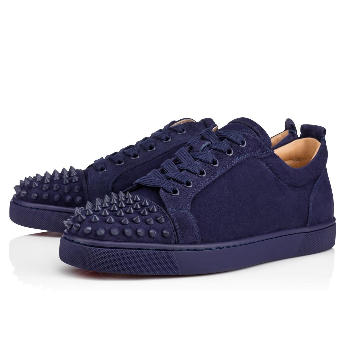 58145954cde7 Christian Louboutin Louis Junior Low-Top Leather Trainers In China Blue China  Blue Mat