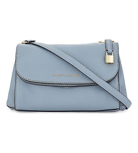 7391637344652 Marc Jacobs Boho Grind Leather Cross-Body Bag In Light Blue