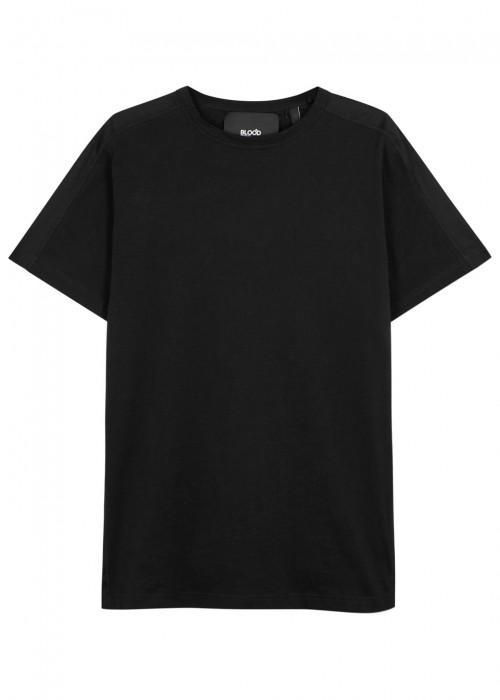 Blood Brother Badge Black Cotton T-Shirt