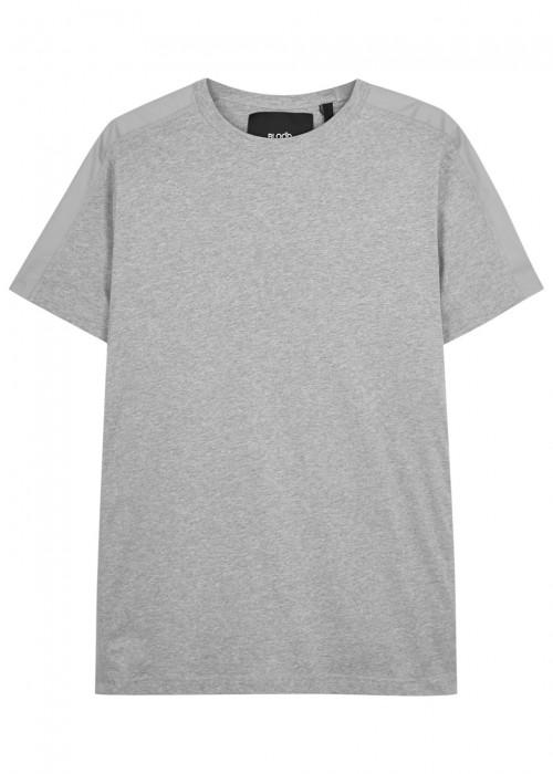 Blood Brother Badge Grey Cotton T-Shirt