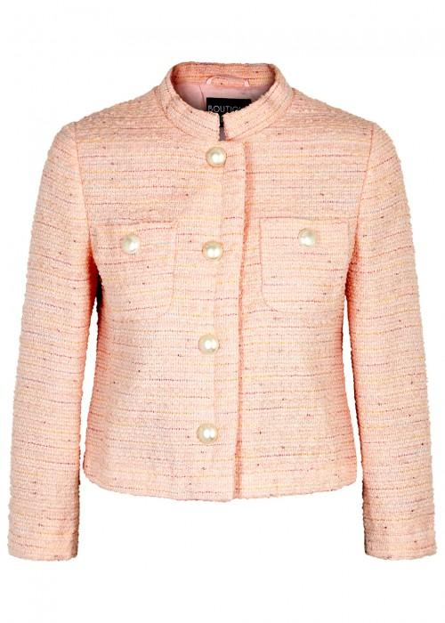 Boutique Moschino Pink BouclÉ Tweed Jacket