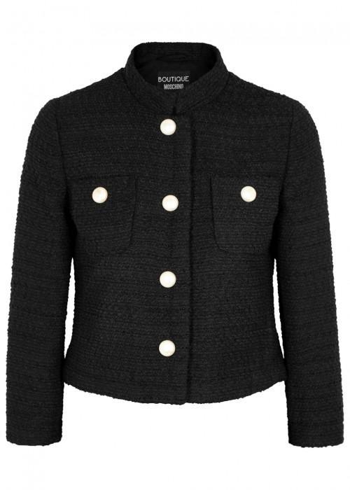 Boutique Moschino Black BouclÉ Tweed Jacket