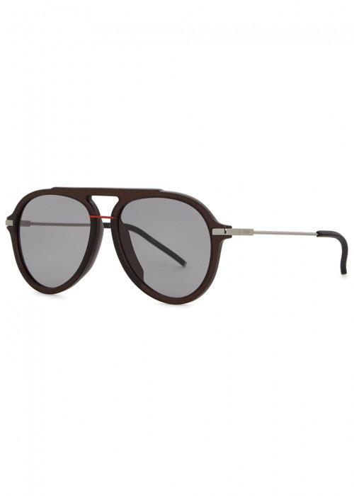 e7a953a6cab Fendi Black Aviator-Style Sunglasses. Harvey Nichols
