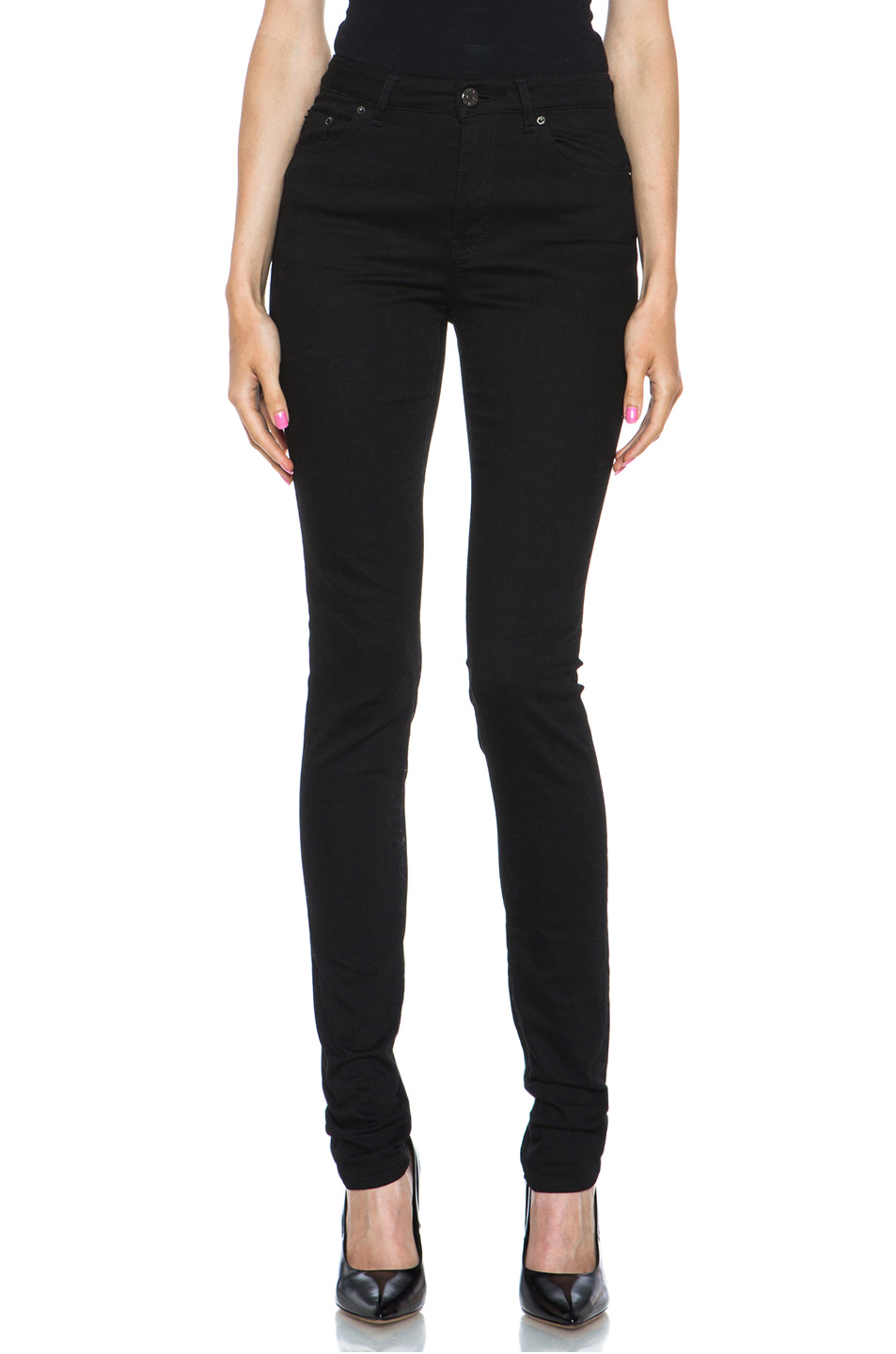 Acne Studios Pin High-waisted Skinny Jeans In Black