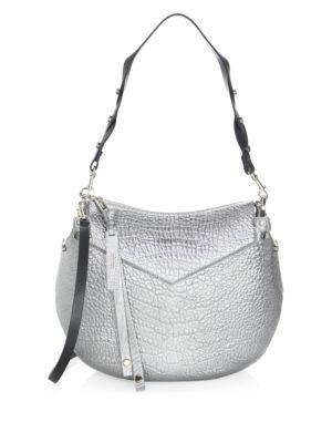 33cc2cd013 Jimmy Choo Artie Grained Leather Shoulder Bag In Platinum   ModeSens