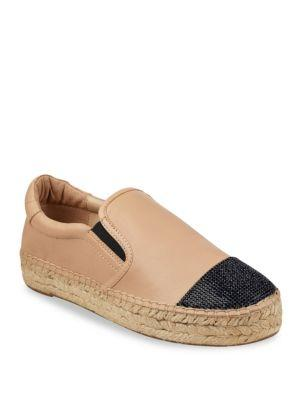 71bbad1c8 Kendall + Kylie Joss Leather Espadrilles In Tan Multi | ModeSens