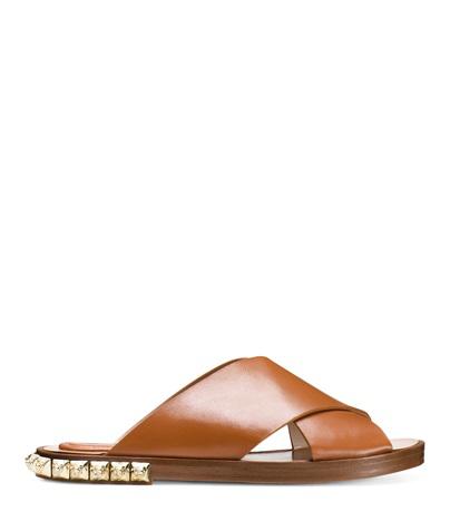 Stuart Weitzman Women's Rockrose Leather Studded Slide Sandals In White