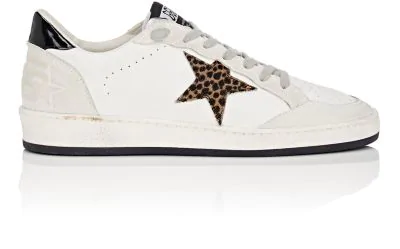 717f1b45c402 Golden Goose Hi Star Leather Platform Sneakers With Leopard In White ...