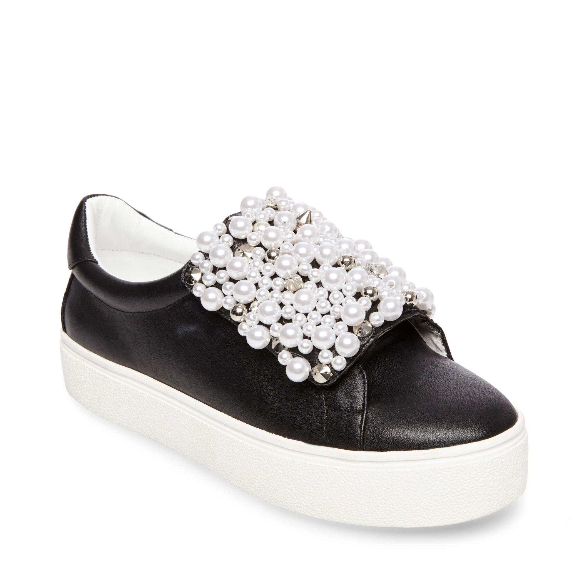 97e125d1a78 Steve Madden Lion Embellished Slip-On Platform Sneaker In Black Faux ...