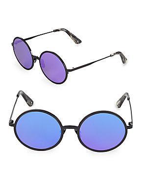 bcfc7108c Sunday Somewhere 52Mm Charlie Mirrored Round Sunglasses In Purple ...