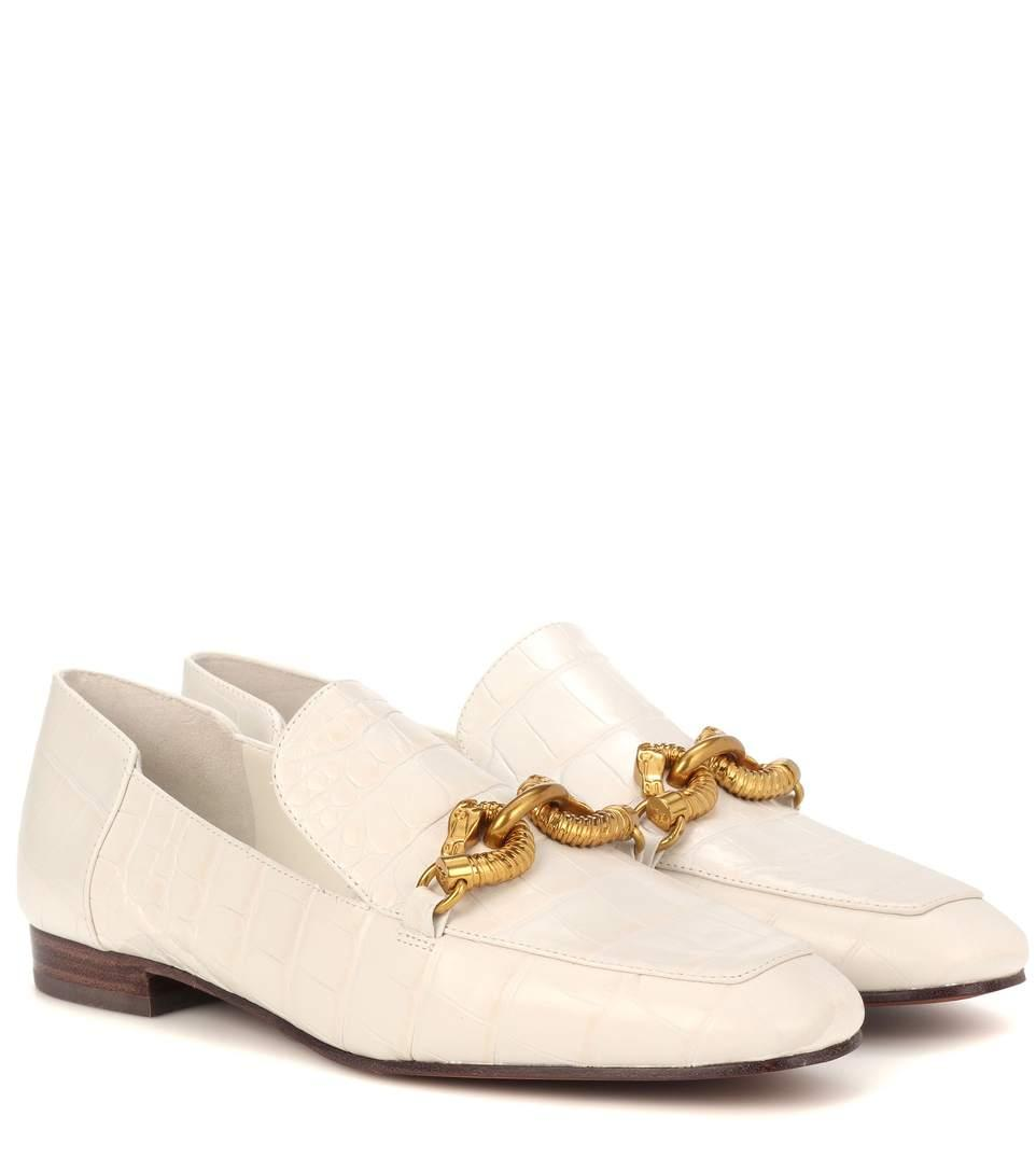 bd74f7bbe Tory Burch Jessa Leather Loafers In White