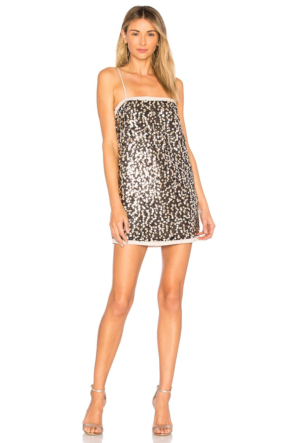 House Of Harlow 1960 X Revolve Kristian Dress In Brown. In Sterling