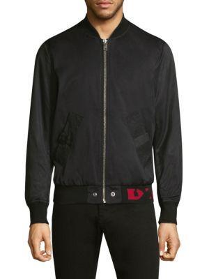 Diesel Gate Bomber Jacket In Black