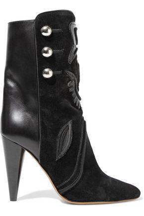 Isabel Marant Woman Liv Suede And Leather Ankle Boots Black