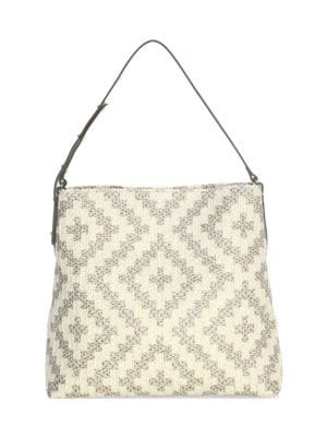 Eric Javits Women's Squishee Up Woven Tote In Taupe Glow