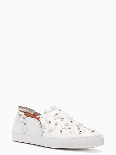 4f2e46069ce9 Kate Spade Louise Floral-Embellished Sneaker In White