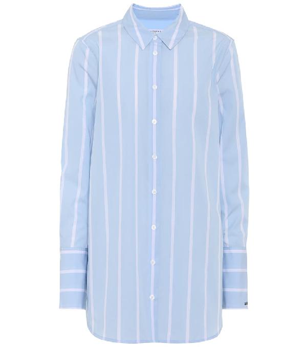 6c4ad9d9 Equipment Arlette Striped Cotton-Poplin Shirt In Sky Blue   ModeSens