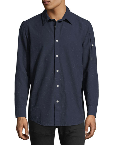 G-Star Stalt Clean Lightweight Premium Denim Shirt In Enzyme Wash