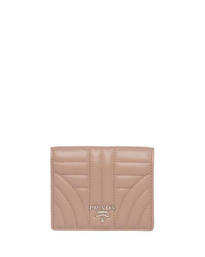 29b69fb74 Prada Diagramme French Wallet In Nude | ModeSens