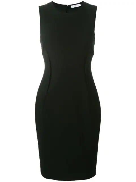 Versace Stretch Cady Sheath Dress In Black