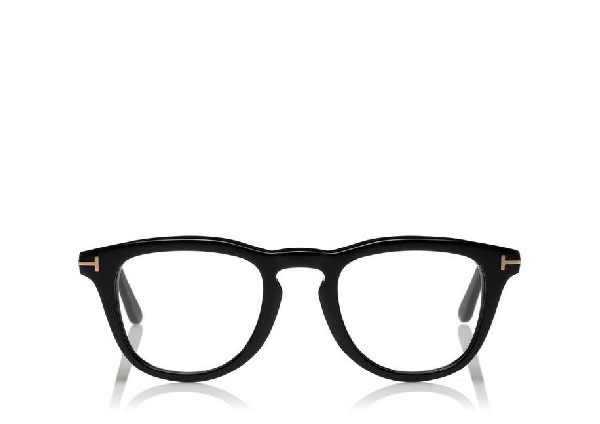 57a54fd936bc Tom Ford Blue Block Round Optical In Black