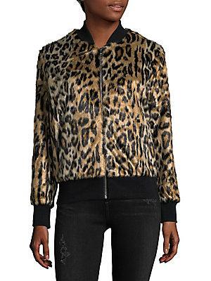 Love Token Faux Fur Animal-Print Jacket In Cheetah