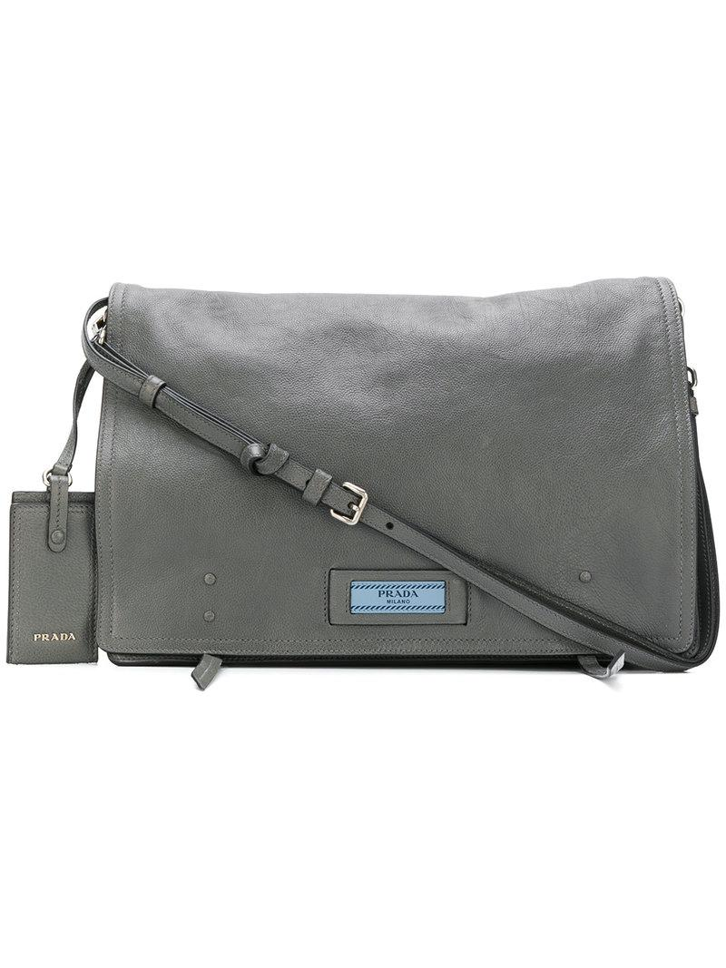 f95e37cba77565 Prada Etiquette Shoulder Bag - Grey | ModeSens