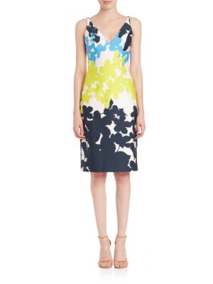 Milly Floral-print Racerback Dress In Multicolor