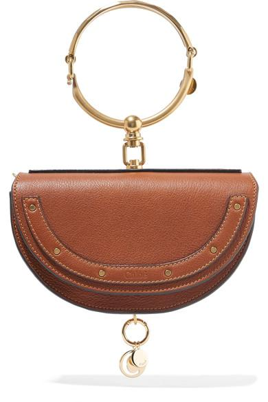78ca9bc99fdbb ChloÉ Nile Bracelet Small Textured-Leather Shoulder Bag