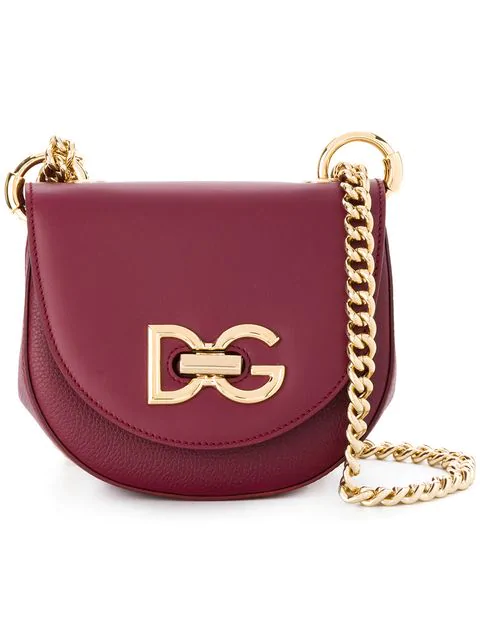Dolce & Gabbana Wifi Leather Shoulder Bag In Red