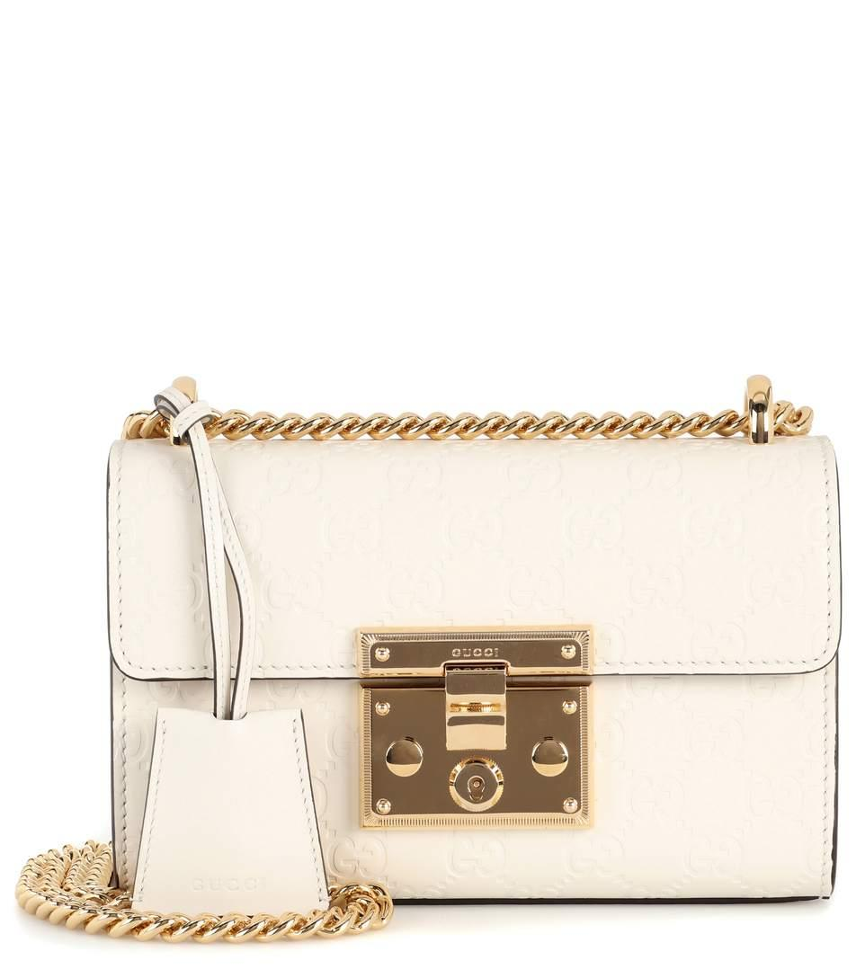 00d2894422 Gucci Padlock Small Leather Shoulder Bag In White | ModeSens