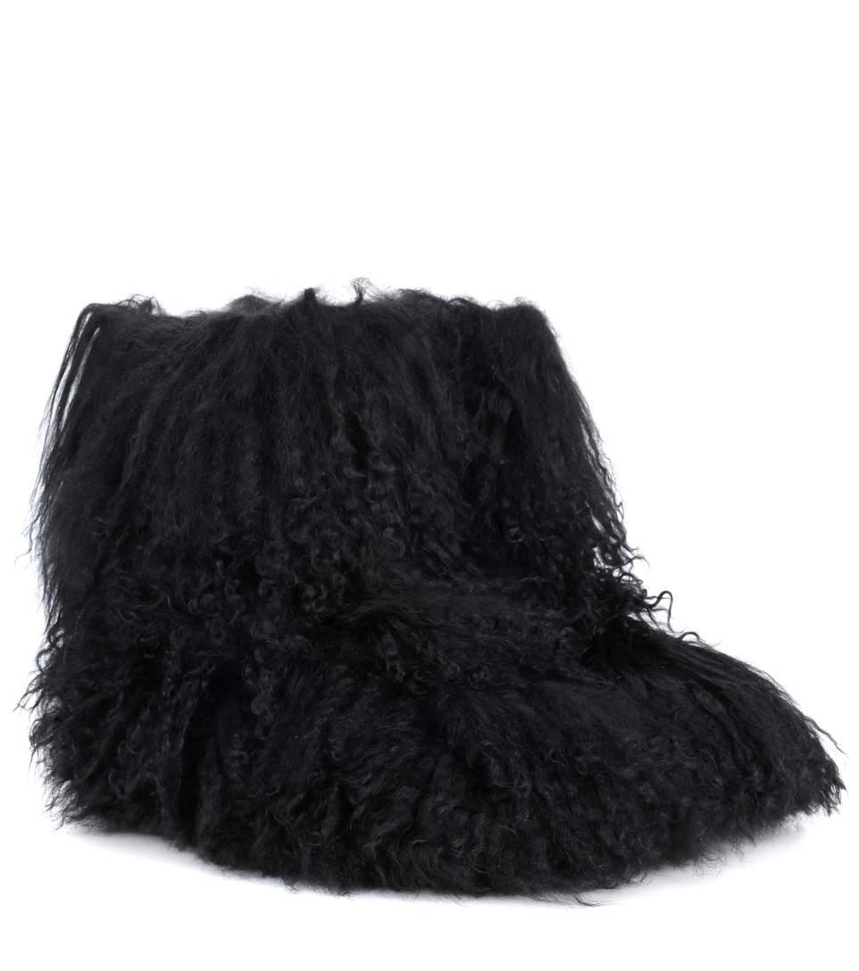 3de0db2f0cb Fluff Momma Shearling Ankle Boots in Black