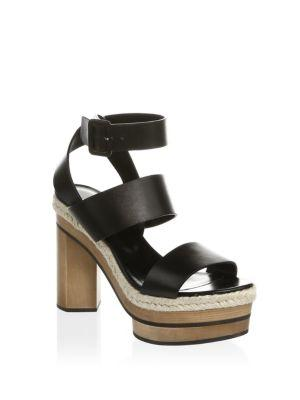 Pierre Hardy Deck Leather Ankle-Strap Sandals In Black