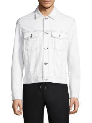 Diesel Black Gold Mixed Media Leather Jacket In Black