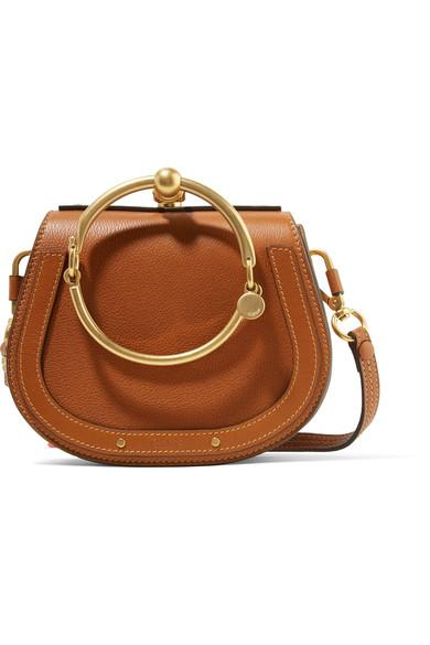 3c6296e521 Nile Bracelet Small Textured-Leather And Suede Shoulder Bag in Brown