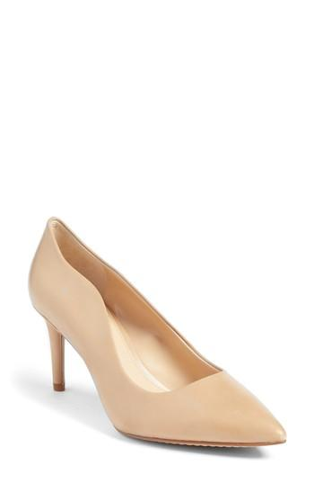 8433827e92c Vince Camuto Jaynita Pointy Toe Pump In Nude Leather