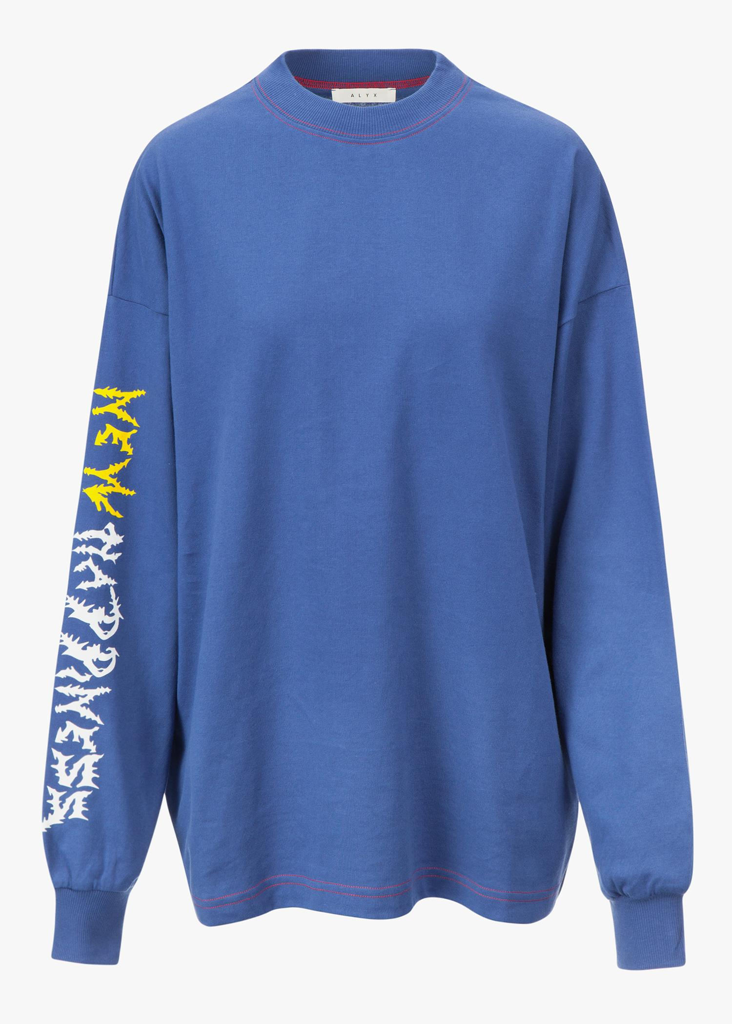 Alyx New Happiness L/S Tee In Bluette